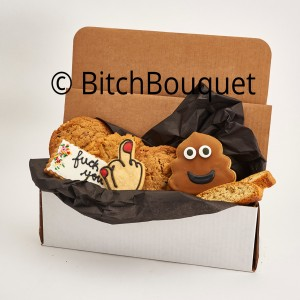 Fuck you and turd Cookie box