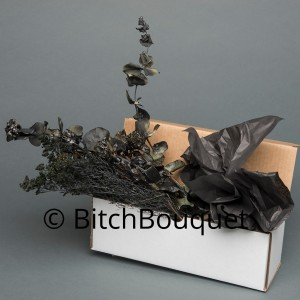 Black Flower Box