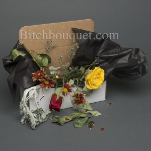 Dead Rose and Flower Box arrangement