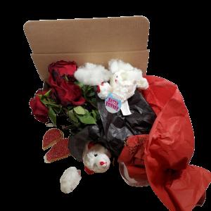 Fuck Valentine Dead bear and Dead Flower Box