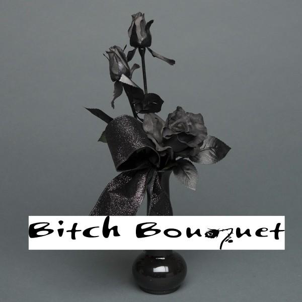 Black Rose Bud Vase