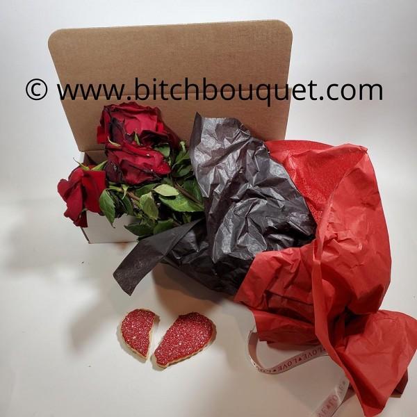 Valentine Dead Rose Broken Heart Cookie